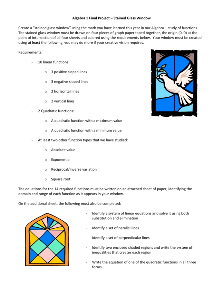 Algebra  Final Project  Stained Glass Window Create A