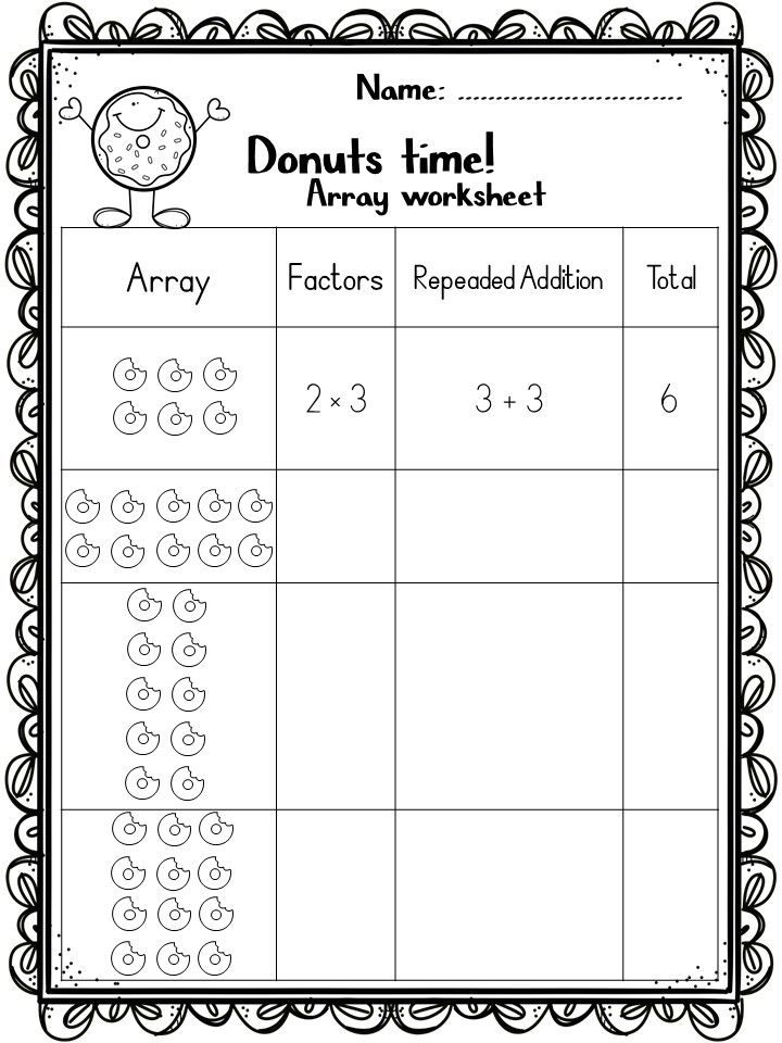 Arrays And Multiplication A Fun Way To Learn With