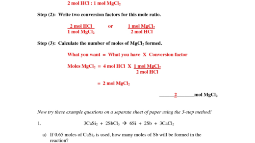 Best Images Of Moles Worksheet With Answers  Mole