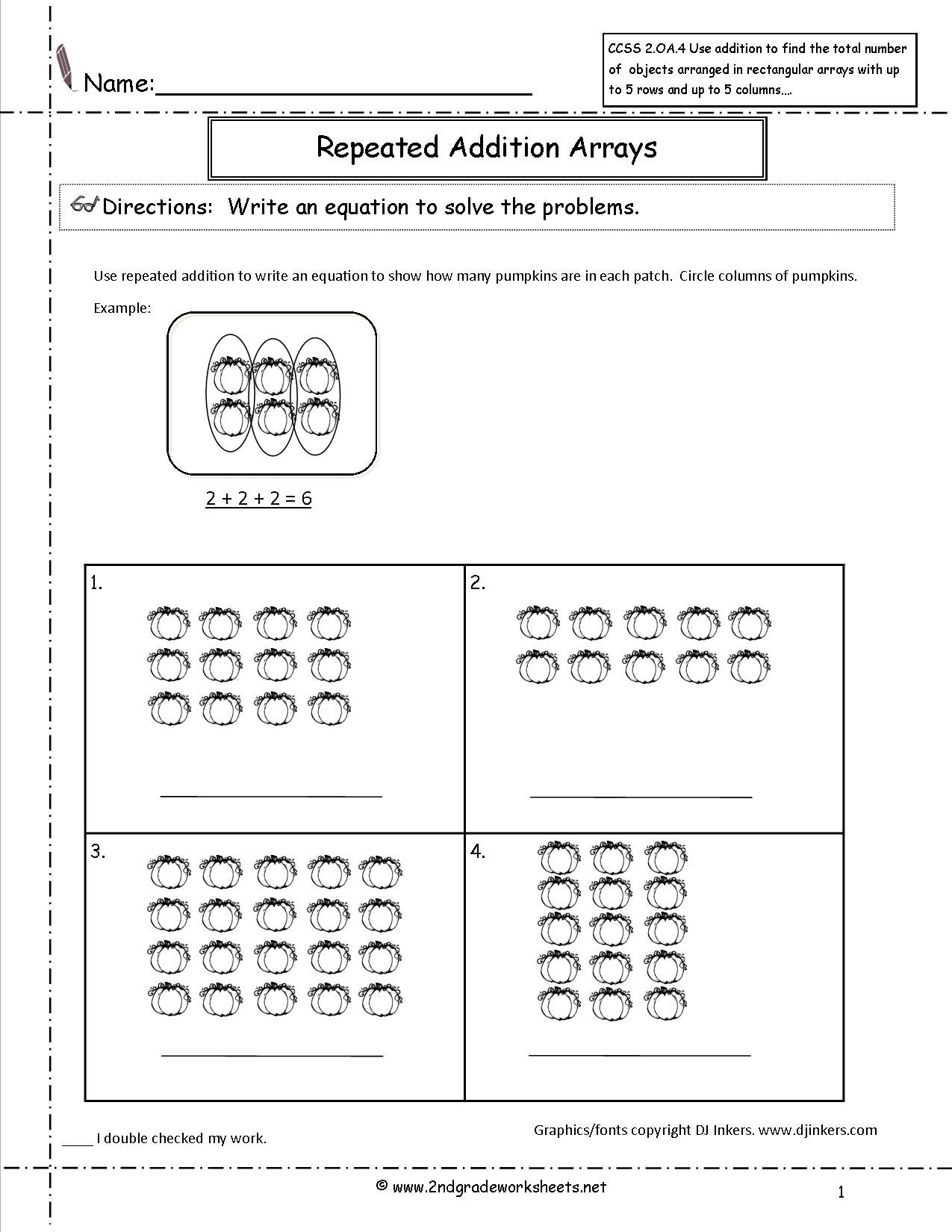 Best Images Of Pumpkin Addition Worksheet  Repeated
