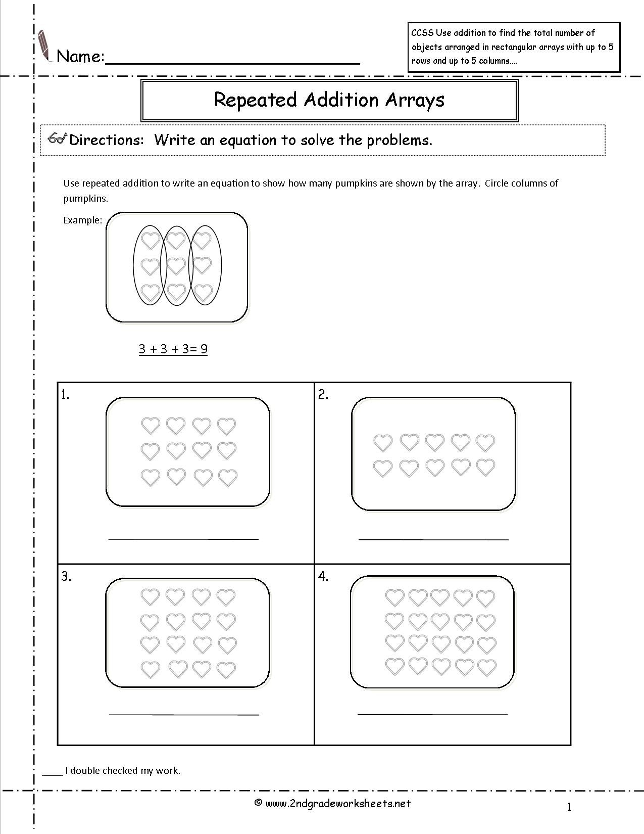 Best Images Of Repeated Addition Worksheets
