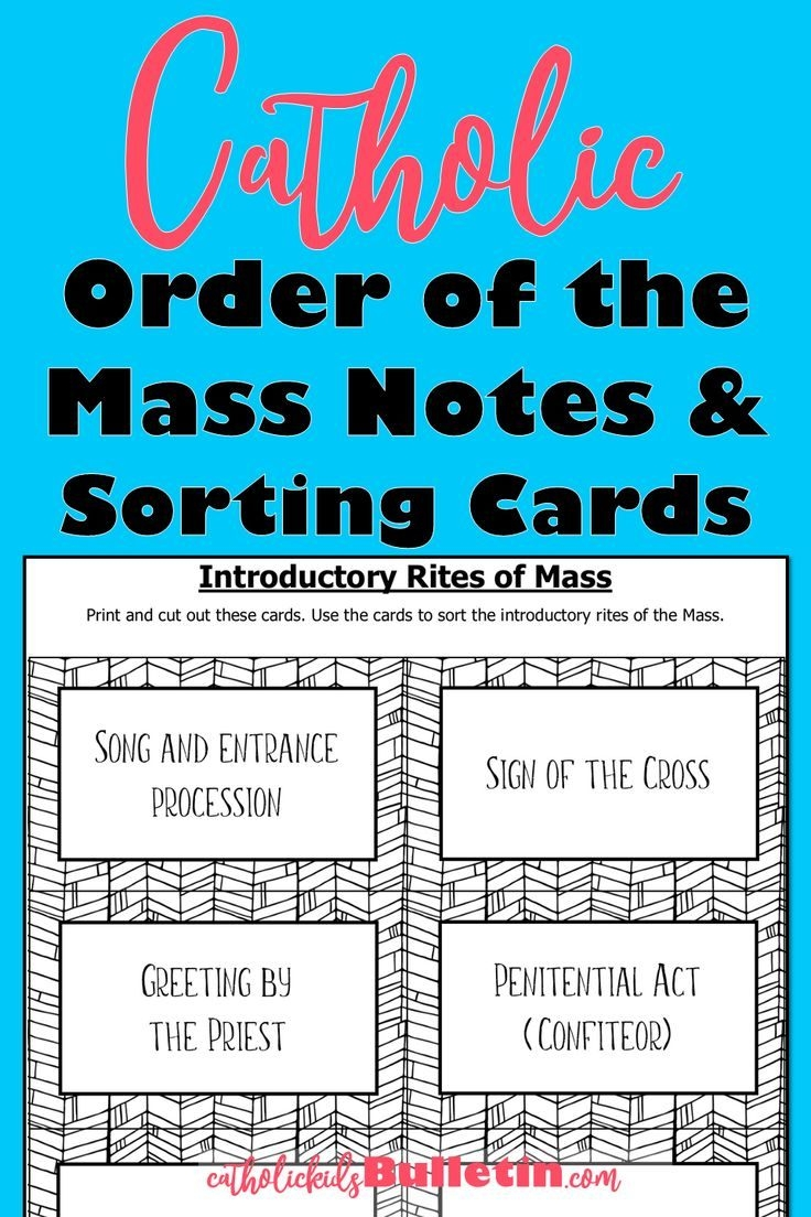 Catholic Mass Sorting Cards Lessons And Activity To Teach
