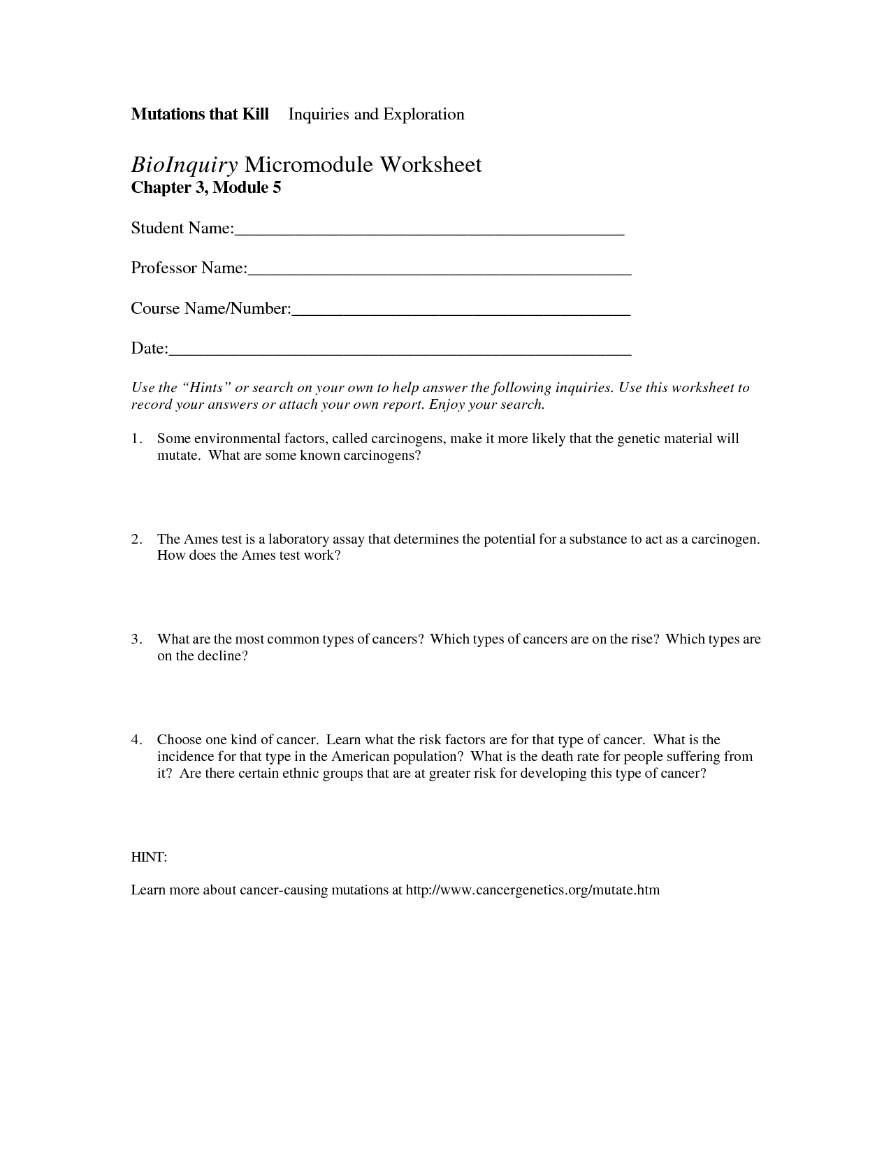 Codon Worksheet Answers  Printable Worksheets And