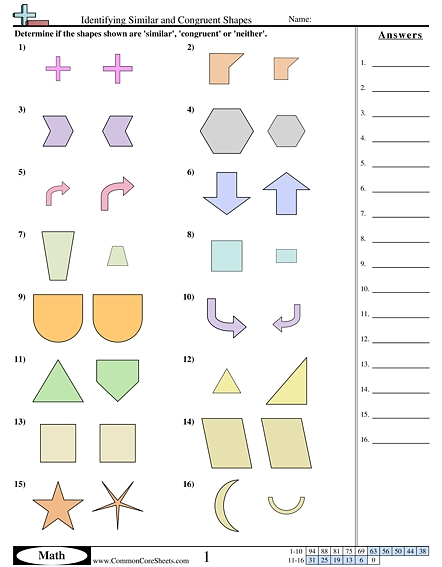 Congruent And Similar Shapes Worksheets  Shapes