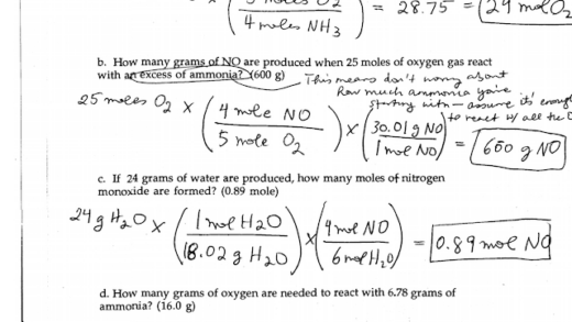 Day  Stoichiometry Worksheet  And  Answerspdf
