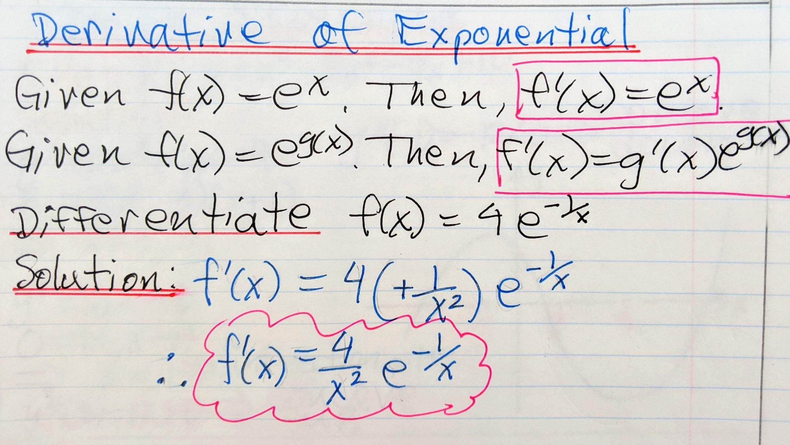 Derivative Of Exponential Function Archives  Math