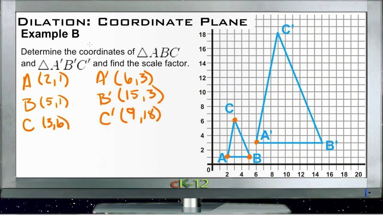 Dilation In The Coordinate Plane Examples Basic Geometry