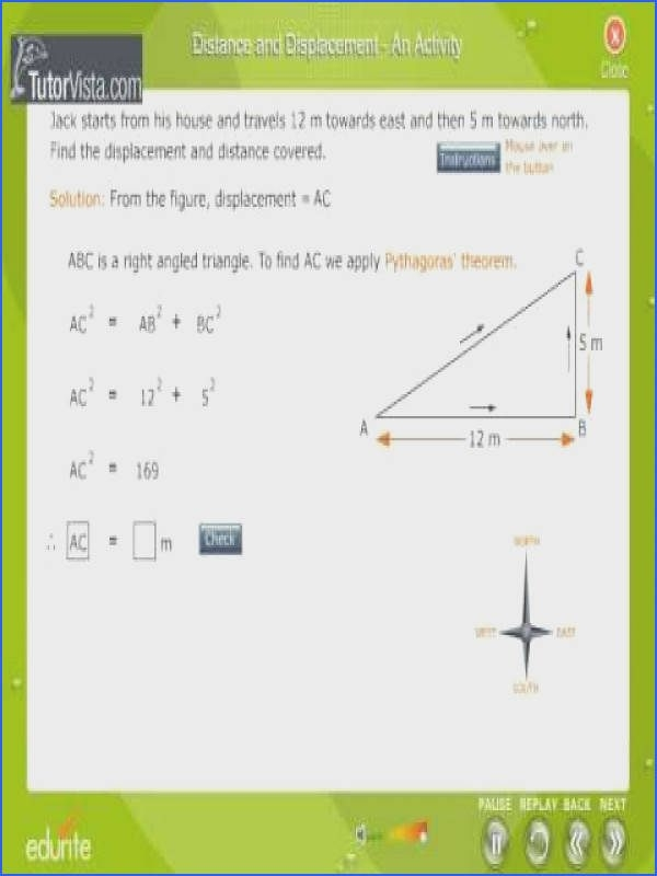 Distance And Displacement Worksheet Answers  Mychaume