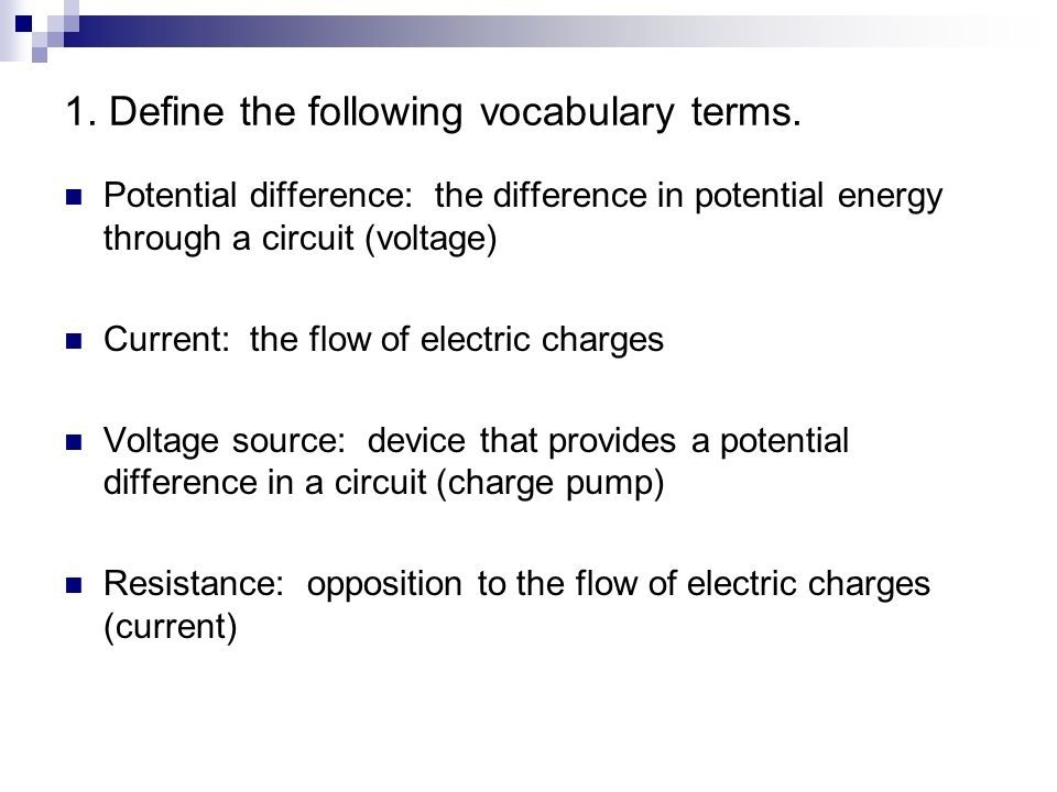 Electricity Review Worksheet Answers