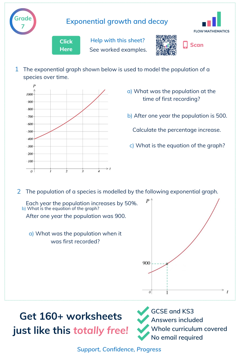 Exponential Growth And Decay In   Worksheets Free