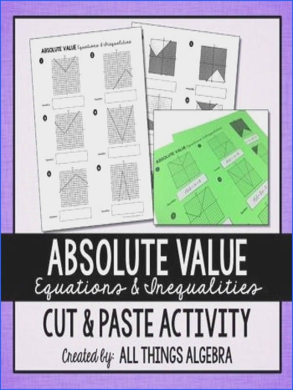 Graphing Absolute Value Functions Worksheet  Mychaume