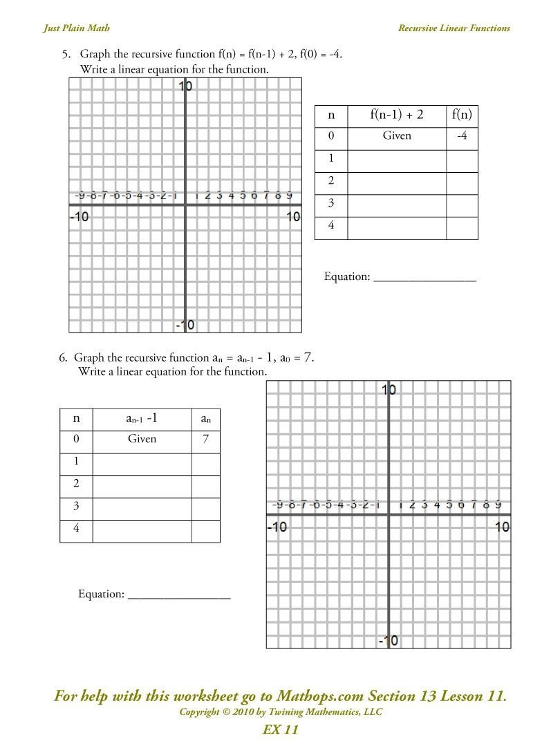 Graphing Exponential Functions Worksheet Answers