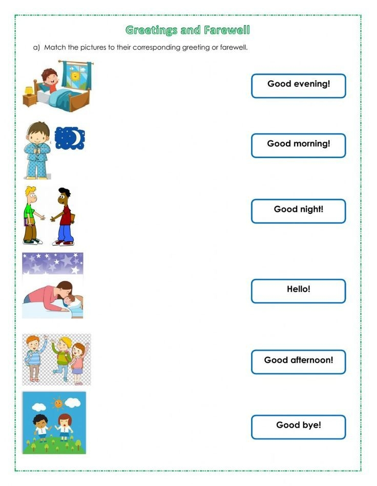 Greetings And Farewell Worksheet In   English