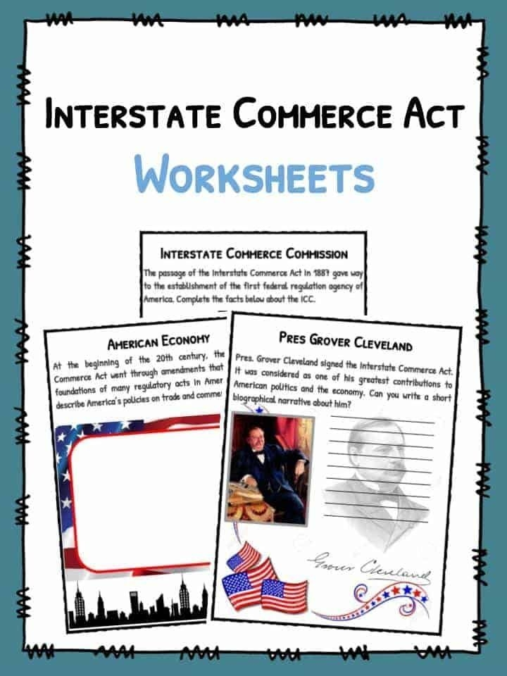 Interstate Commerce Act Facts Worksheets  Information