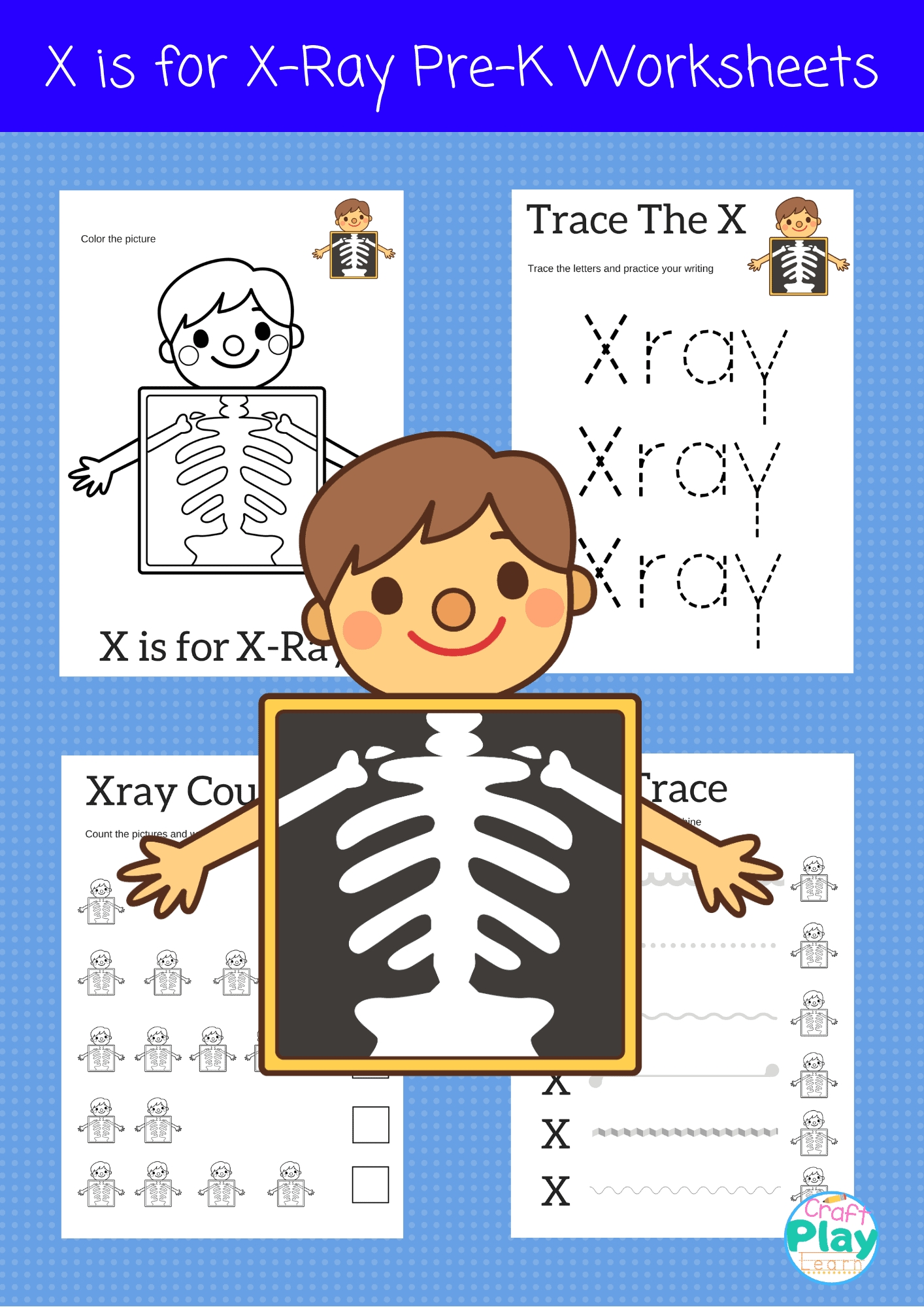 Letter X Worksheets For Preschool Kids  Craft Play Learn