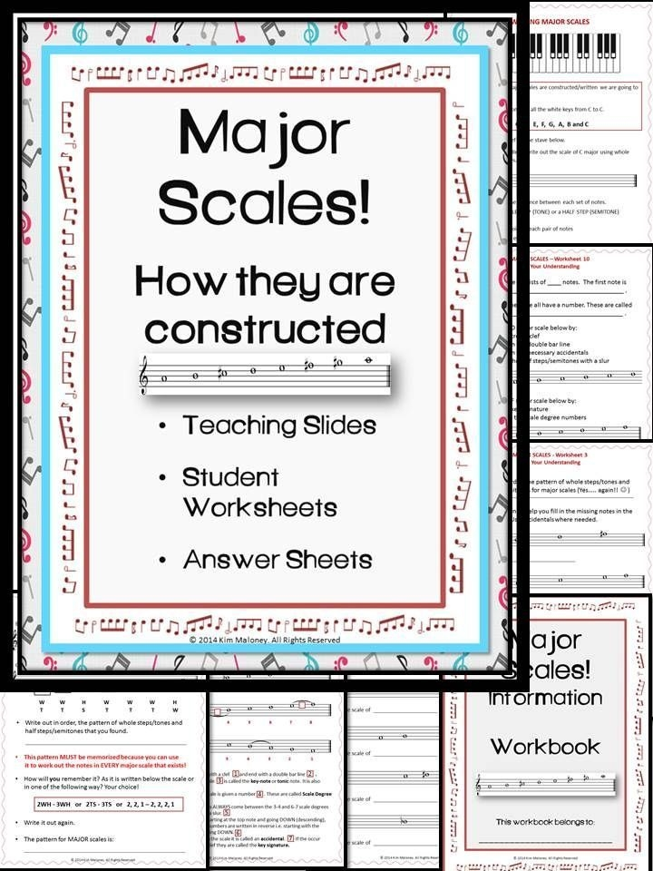 Major Scales Music Theory Worksheets  Music Theory