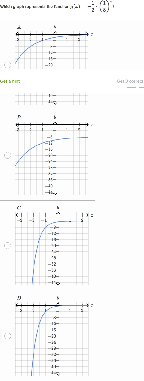 Math Exponential Functions Practice  Graph Basic