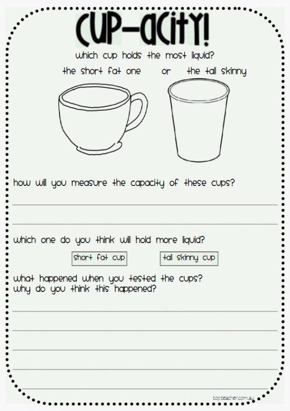 Measuring Liquid Volume Worksheet This Activity Is A