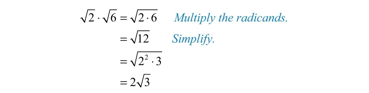 Multiplication And Division Of Radicals Worksheet With