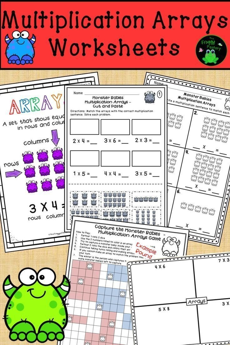 Multiplication Arrays Worksheets The Froggy