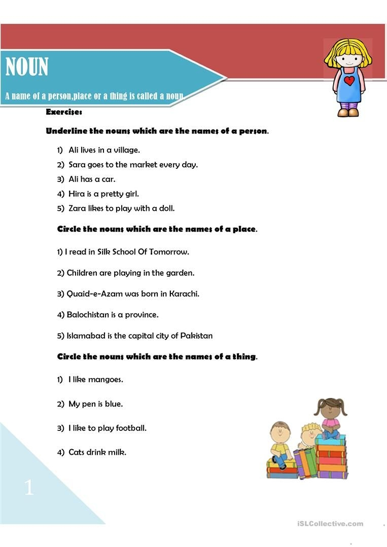 Noun And Its Types  English Esl Worksheets For Distance