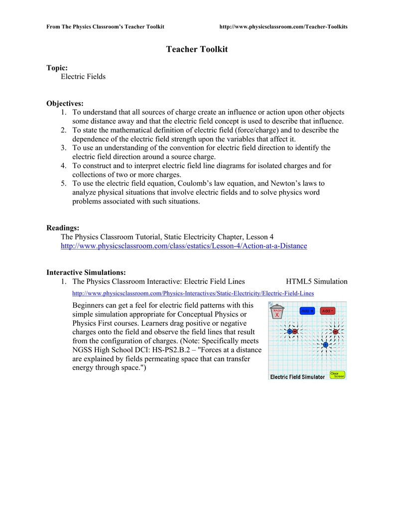 Physics Classroom Static Electricity Worksheet Answers