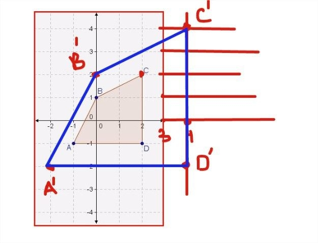 Polygon Abcd Will Be Dilateda Factor Of  To Produce