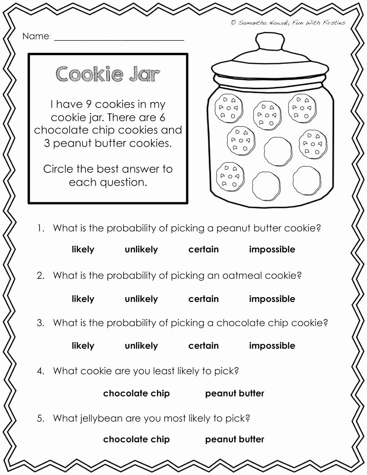 Probability Worksheet Th Grade  Worksheet From Home