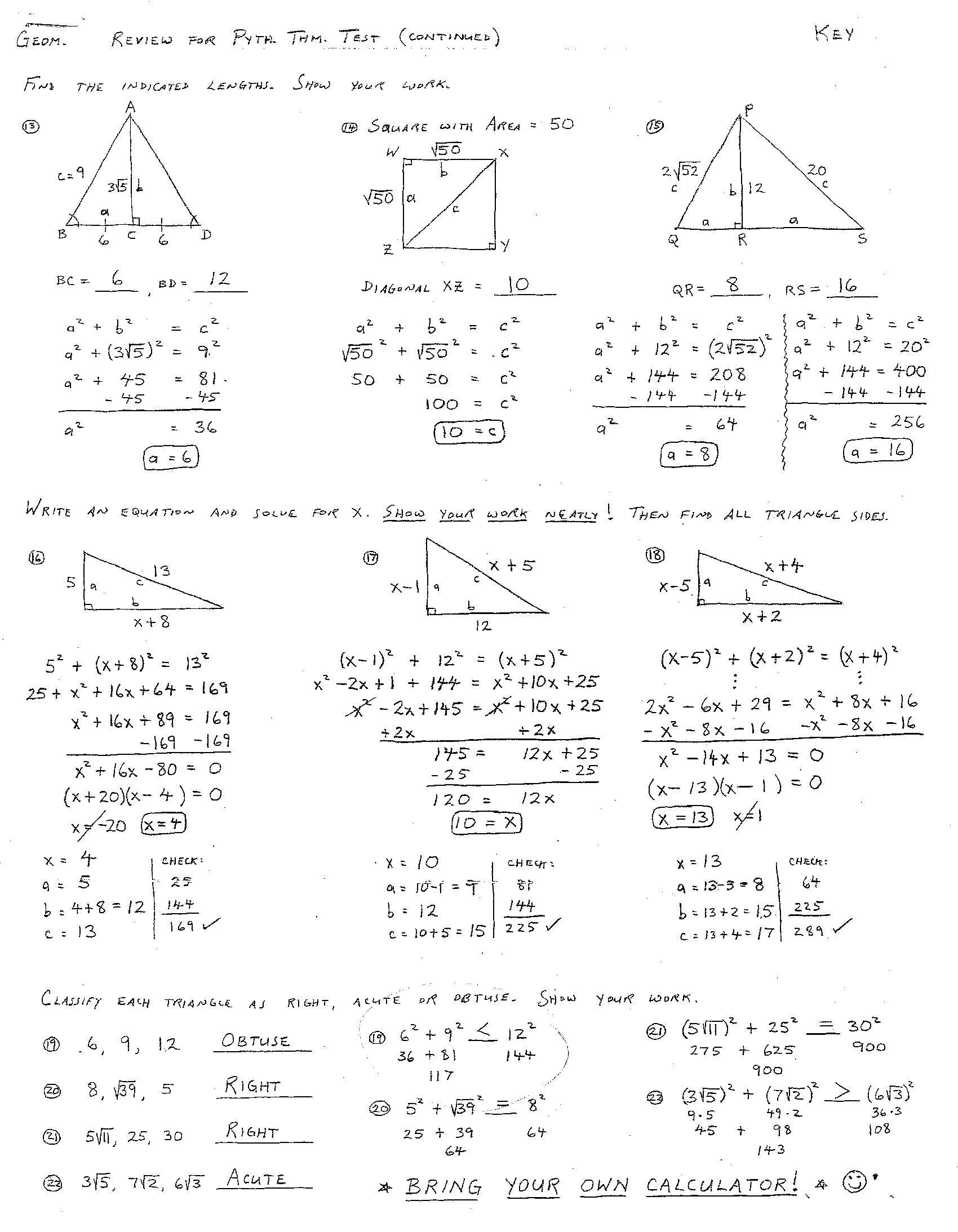 Proving Triangles Congruent Worksheet Answer Key  G