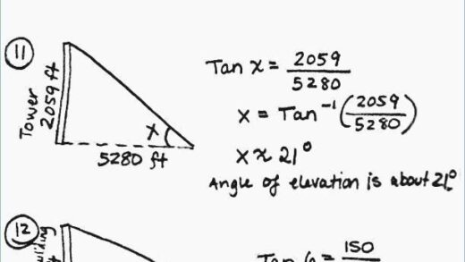 Right Triangle Word Problems Worksheet  Worksheet