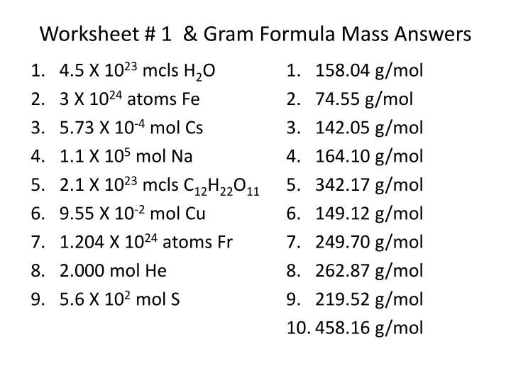 Section  Percent Composition And Chemical Formulas