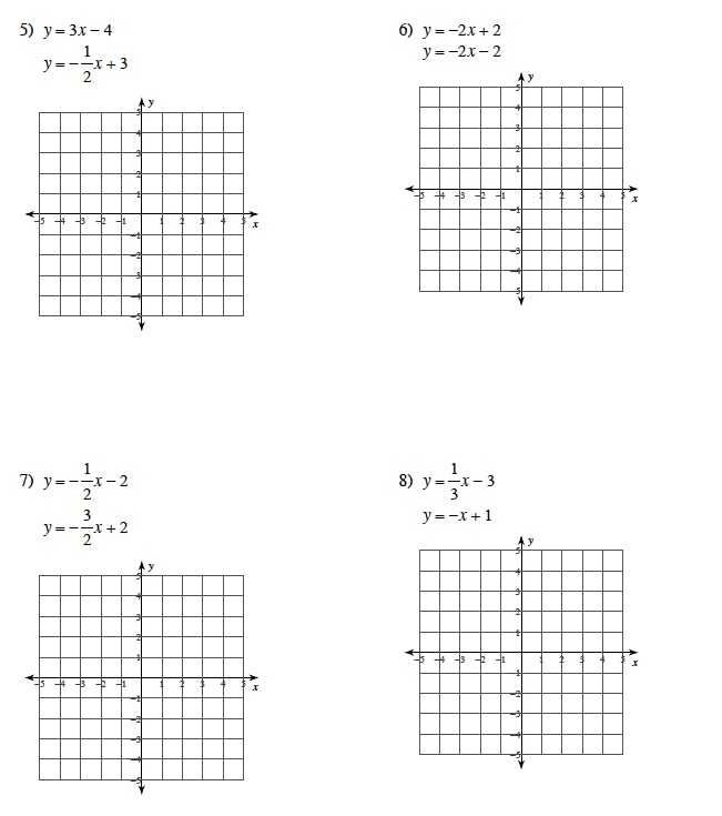 Solving Systems Of Equationsgraphing Worksheet Answer Key
