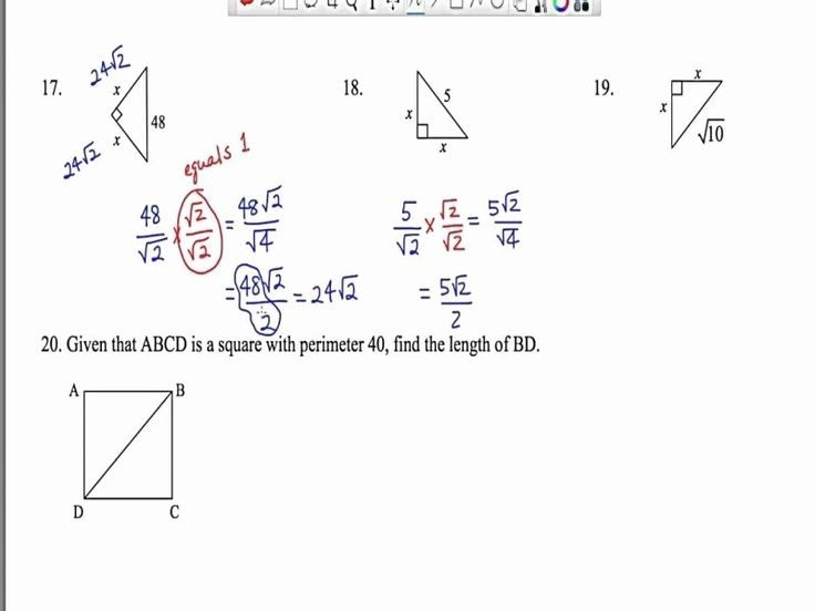 Special Right Triangles Worksheet Fresh Special Right