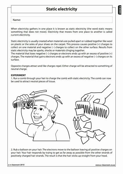 Static Electricity Worksheet Answers In   Static