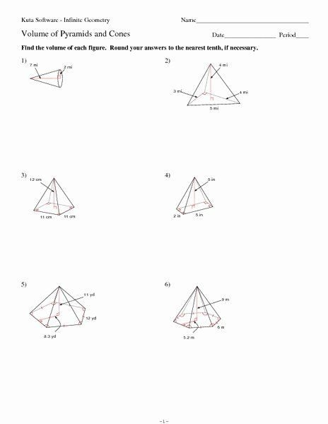 Surface Area Of Pyramid Worksheet In   Worksheets