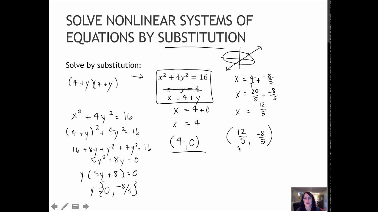 Systems Of Equations Substitution  Tessshebaylo