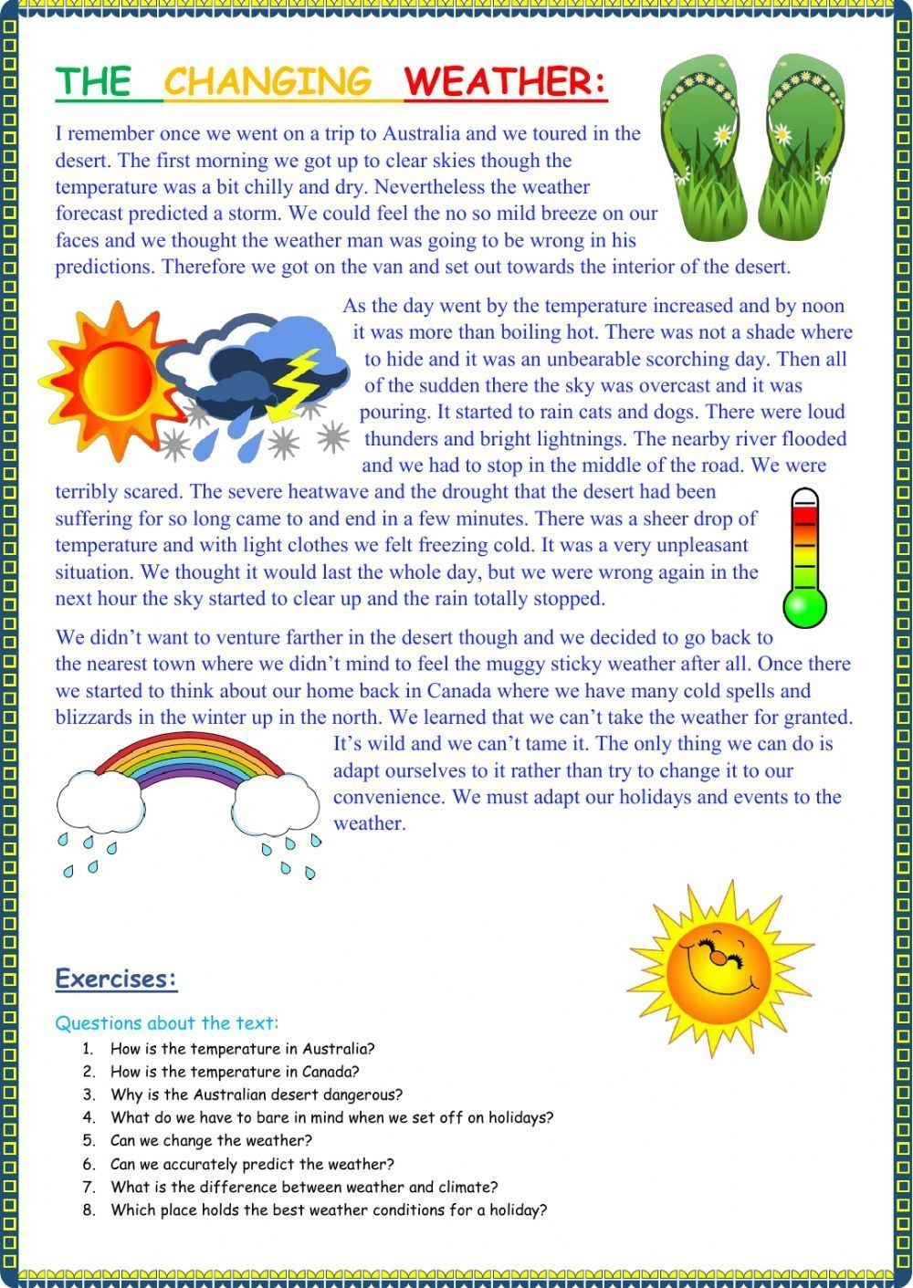 The Weather Interactive And Downloadable Worksheet You