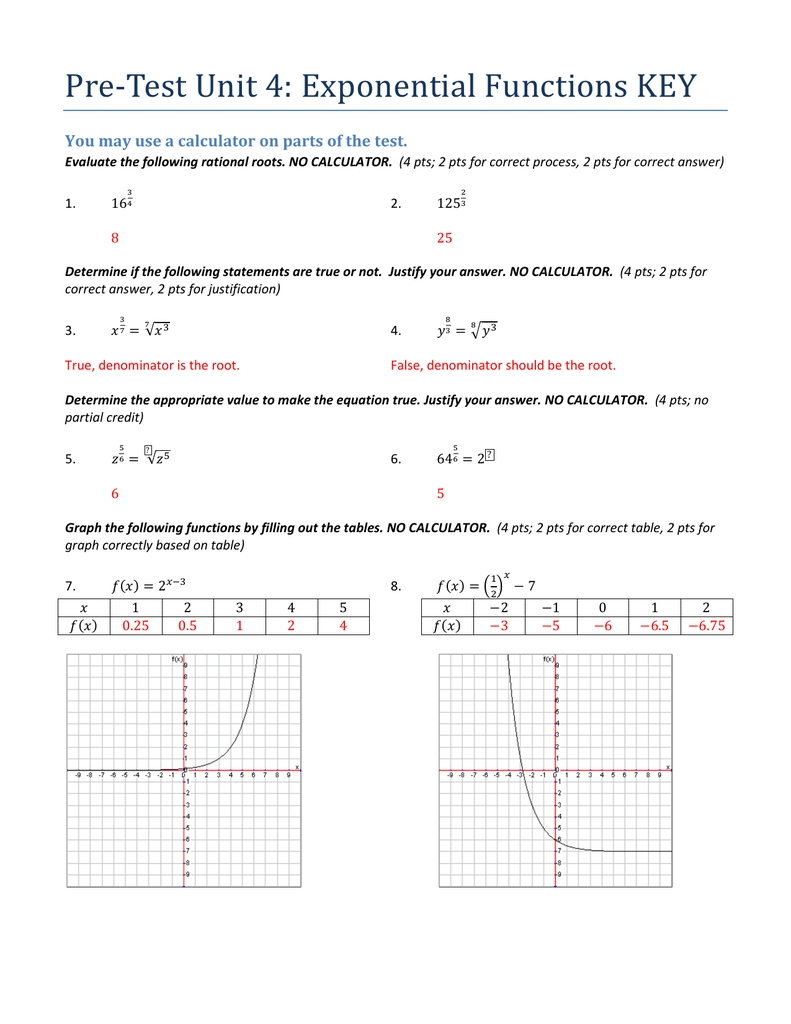 Transformations Of Exponential Functions Worksheet  Pdfshare
