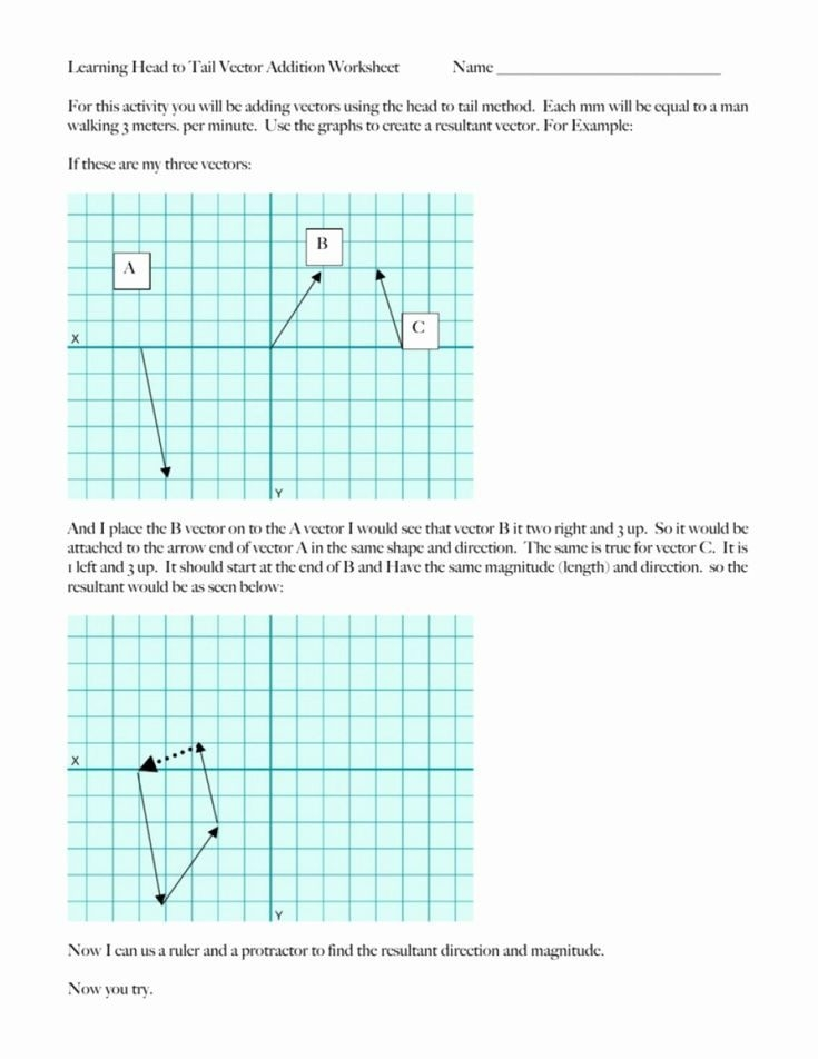 Vector Worksheet Physics Answers Awesome Vector Resolution