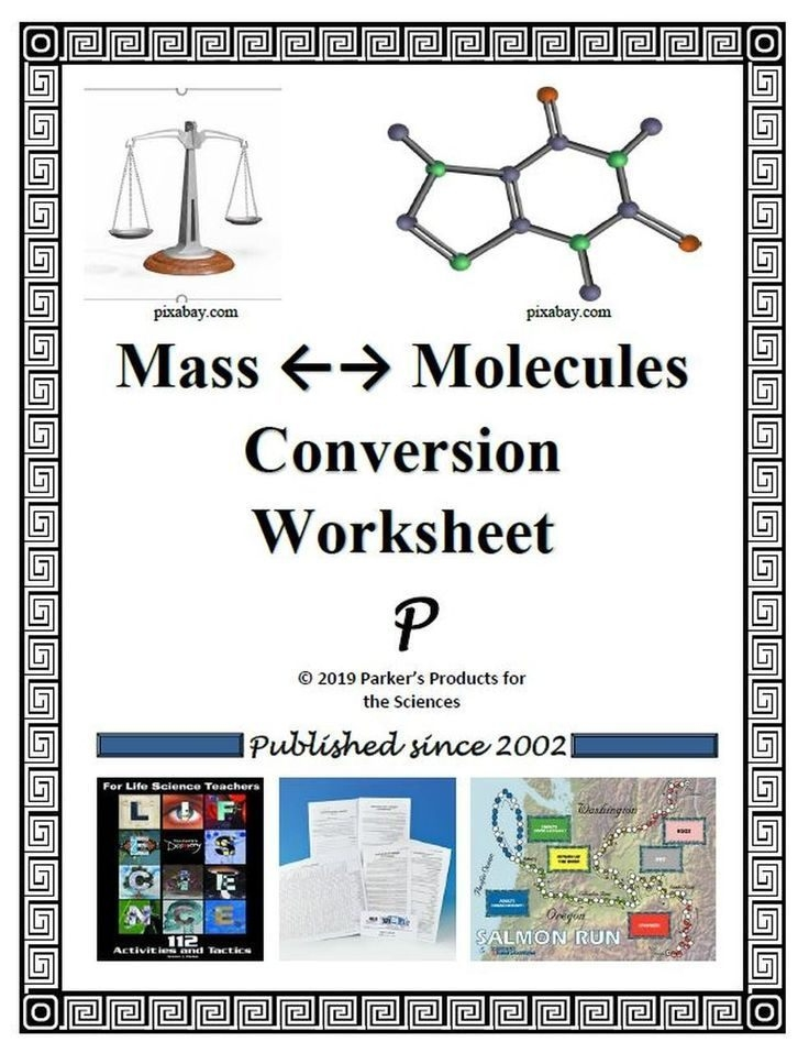 Worksheet For Mass To Molecule Conversion  Amped Up