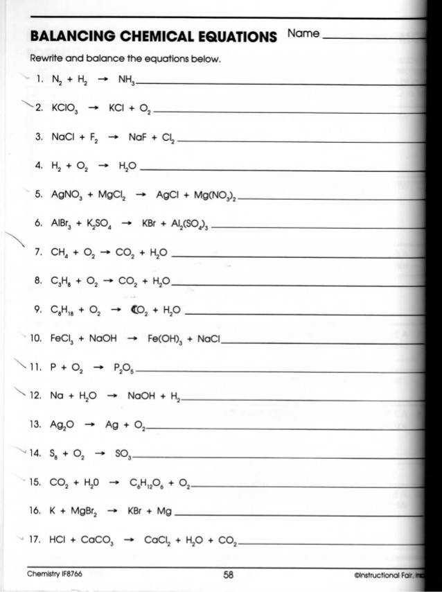 Worksheet  Oxidation Reduction Reactions Answers